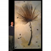 Palm Frond and Fish Fossil Mural 2