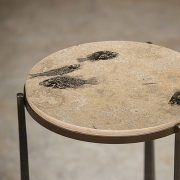 Fossil Stone Drink Table (Round) 170213362t 3
