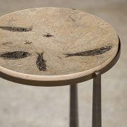Fossil Stone Drink Table (Round) 170213508t 3